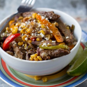Steak Fajita Rice Bowls {Oh Sweet Basil}