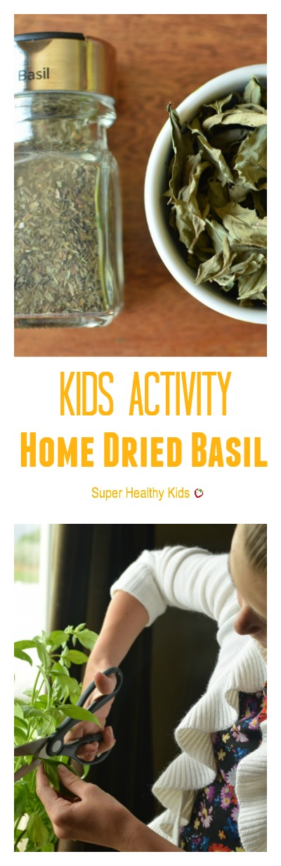 Kids Activity- Home Dried Basil. For a fun summer activity...grow and dry your own spices!