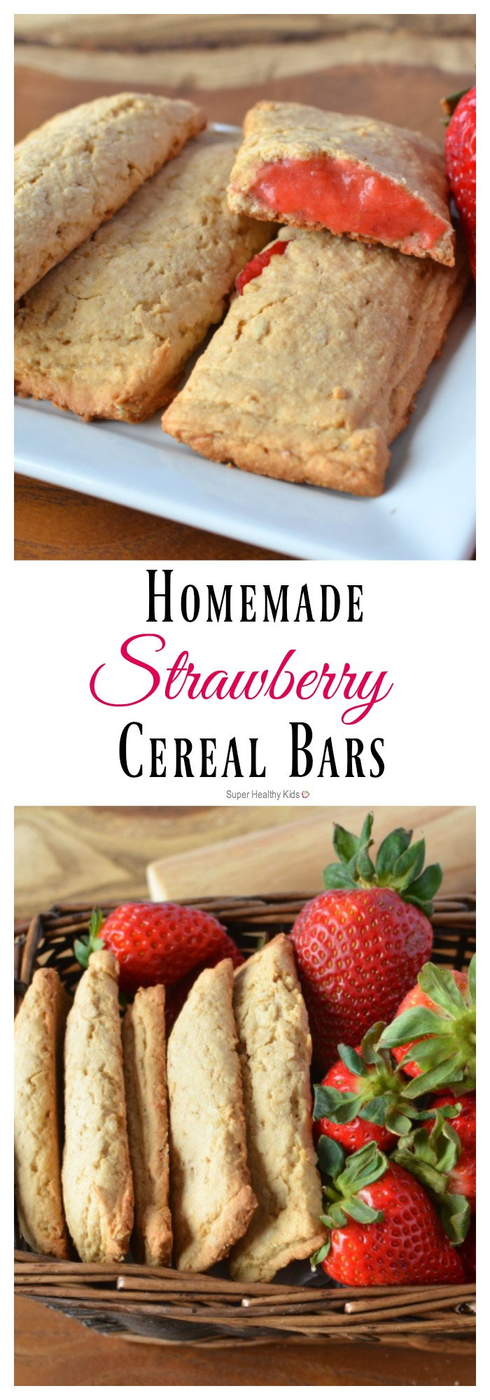 Homemade Strawberry Cereal Bars Recipe. Everyone loves our make at home version of cereal bars! http://www.superhealthykids.com/homemade-cereal-bars/