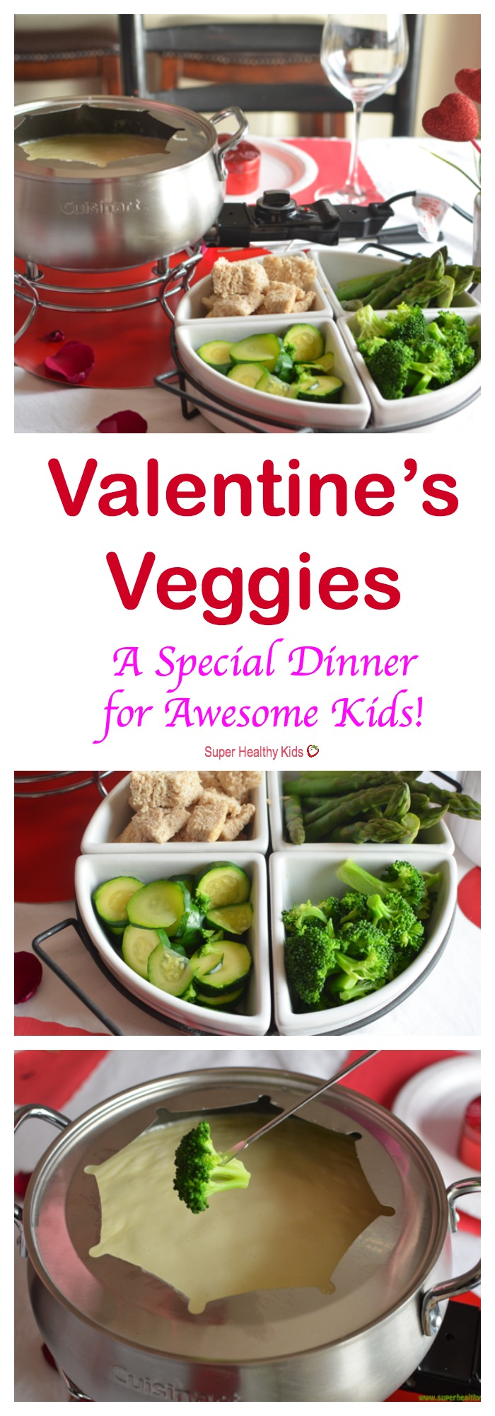FOOD - Valentine's Veggies- Special Dinner for Awesome Kids. A fun dinner to celebrate Valentine's day with the family! http://www.superhealthykids.com/valentines-veggies-special-dinner-for-awesome-kids/