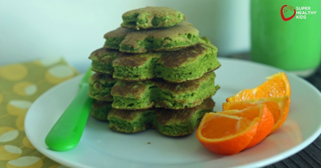 No-Dye Green Pancakes. St. Patrick's Day is right around the corner...