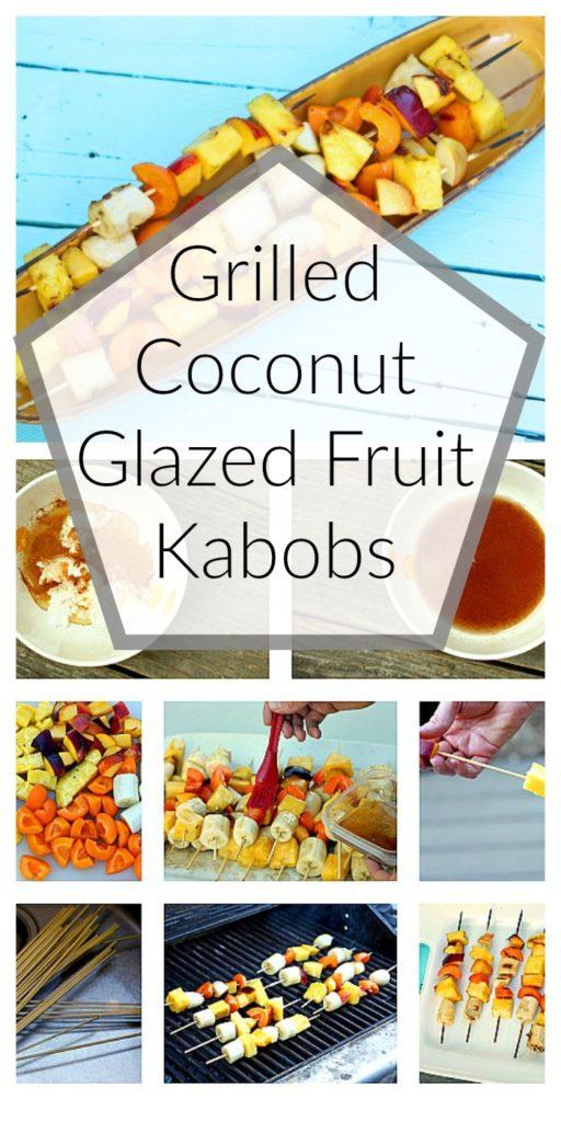 Grilled Coconut Glazed Fruit Kabobs