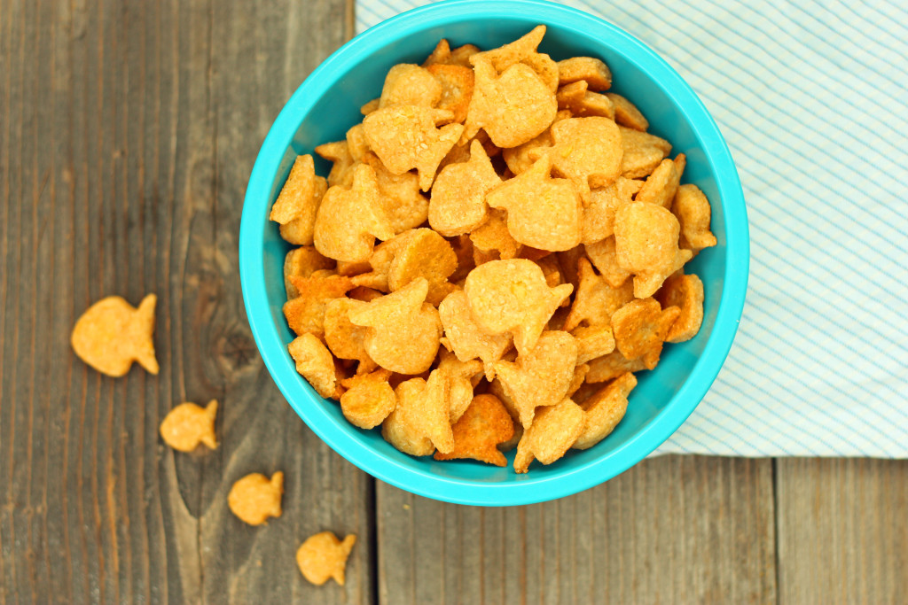 Homemade Whole Wheat Goldfish Crackers. Homemade goldfish! Don't you just love these little fish cutters?