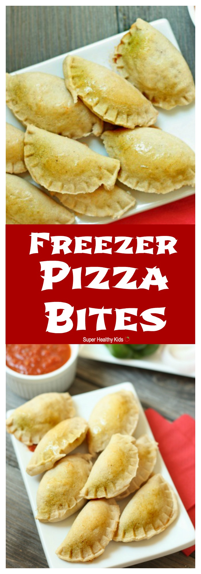 FOOD - Freezer Pizza Bites. Bite size dinner, with giant size nutrition! http://www.superhealthykids.com/freezer-pizza-bites/