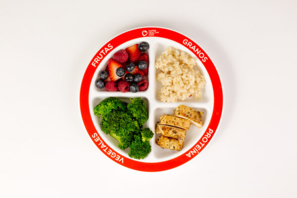 MyPlate Divided Kids Plate Dinner