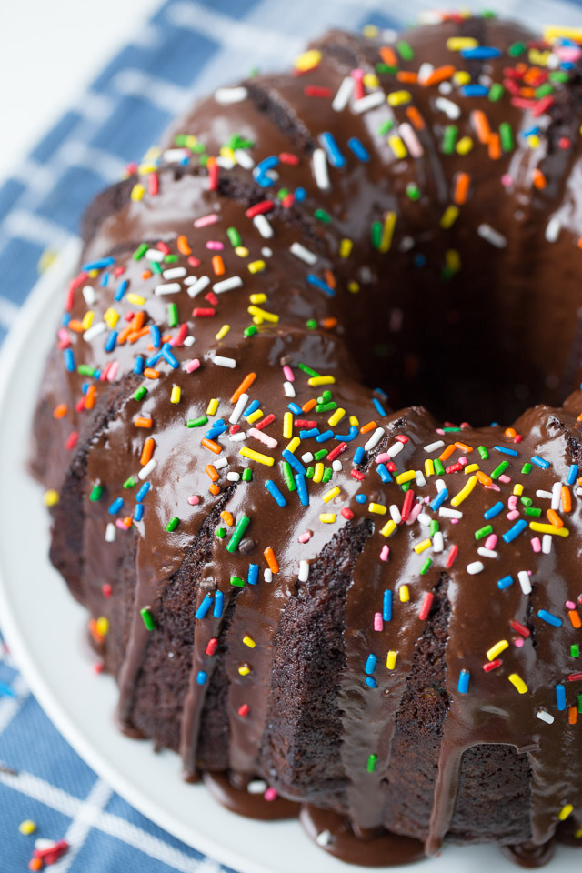 Chocolate Zucchini Sprinkle Bundt Cake Healthy Ideas For