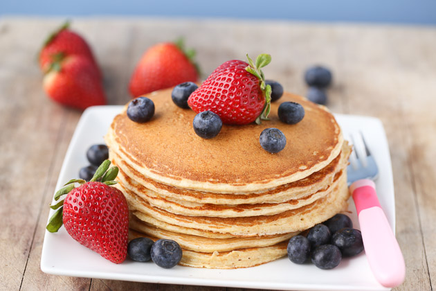 Cottage Cheese Pancakes the kids will love!