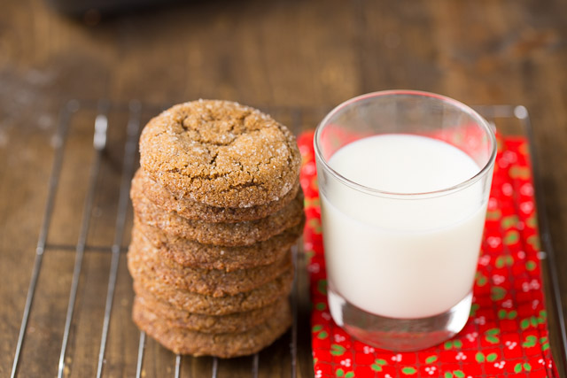 Making Ginger Snap Cookies for Christmas