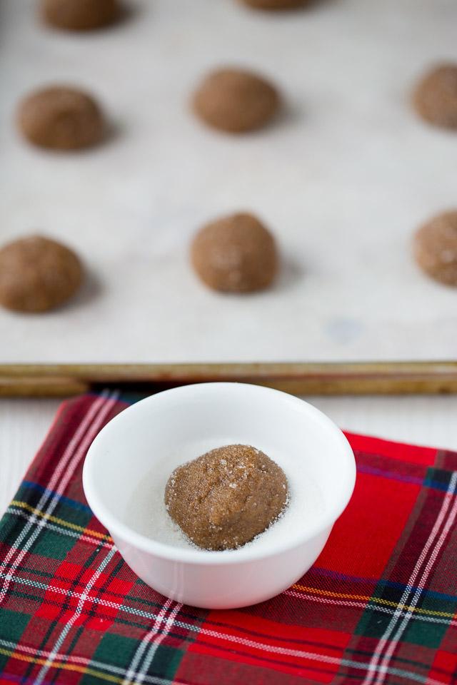 Healthier Ginger Snap Cookies