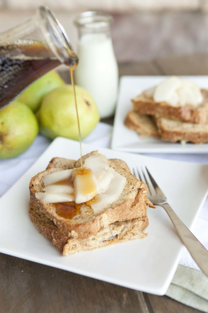Warm Pears & Baked French Toast