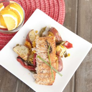 Salmon with Roasted Potato Salad