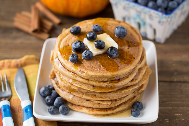 Easy to make Pumpkin Protein Pancakes