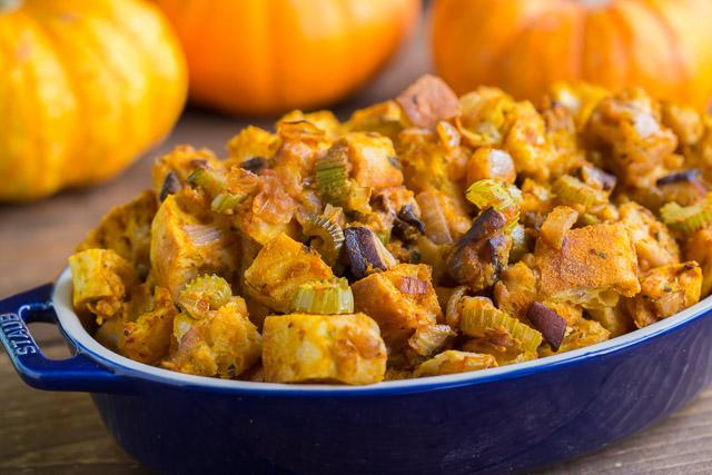 Pumpkin Stuffing stuffed with veggies