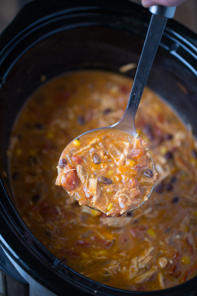 Slow Cooker Creamy Enchilada Soup