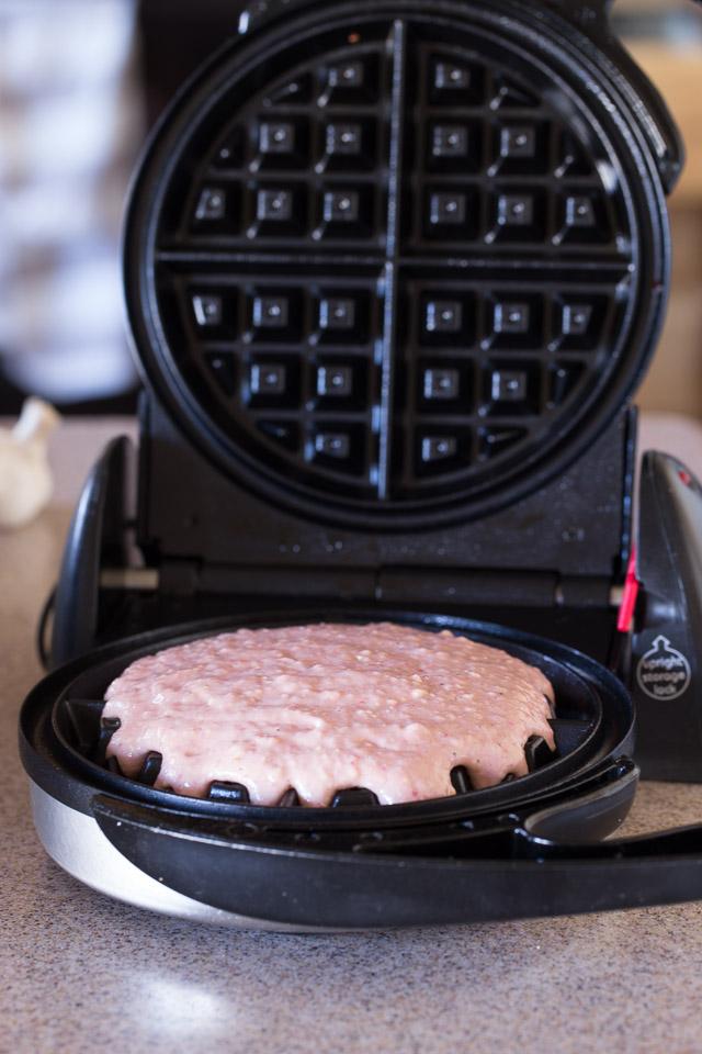 Making Strawberry Waffles