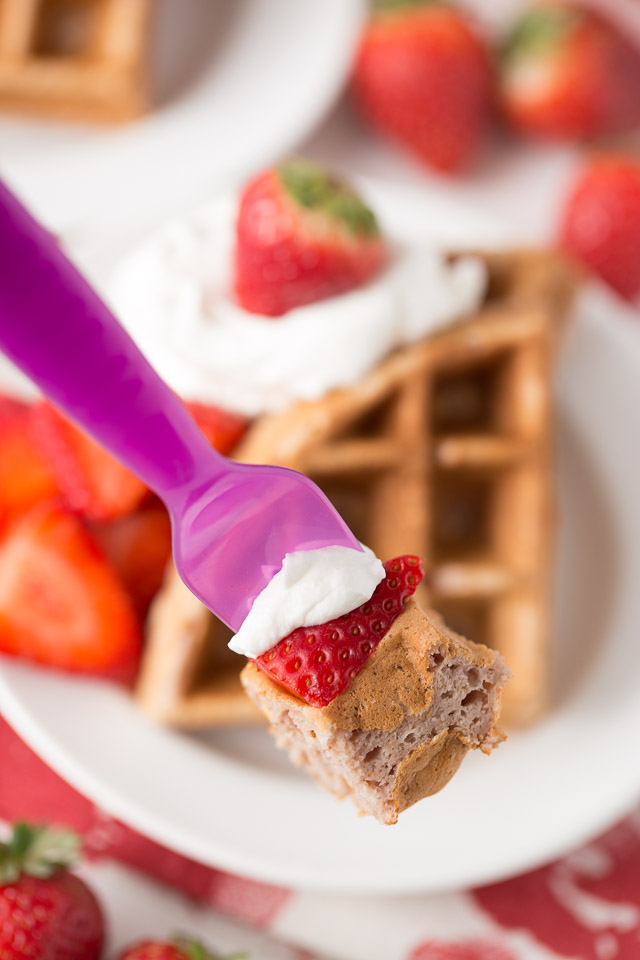 How to make Strawberry Waffles, Healthy Strawberry Waffles, ready to eat