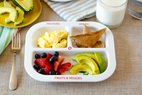 Healthy Habits Divided Kids Plate Breakfast