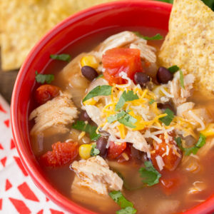 Slow Cooker Chicken Tortilla Soup (Instant Pot Recipe Too!)