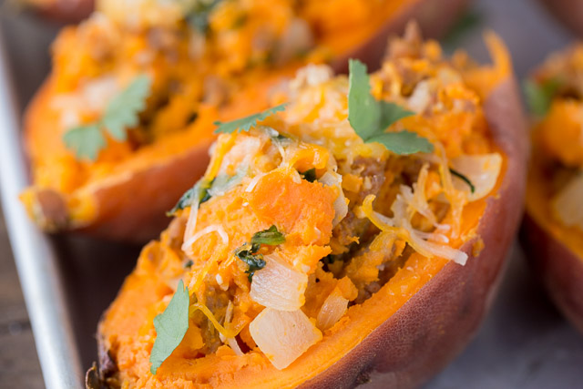 Healthy Dinner Recipe Twice Baked Sweet Potatoes