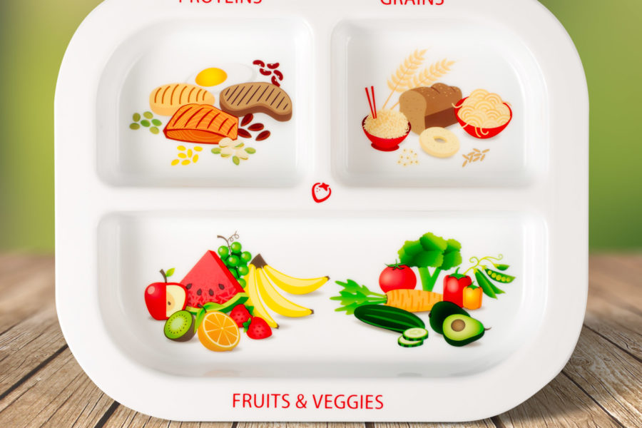 Healthy Habits Divided Kids Plate Super Healthy Kids