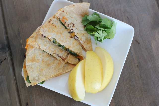 quesadillas with sweet potatoes and black beans