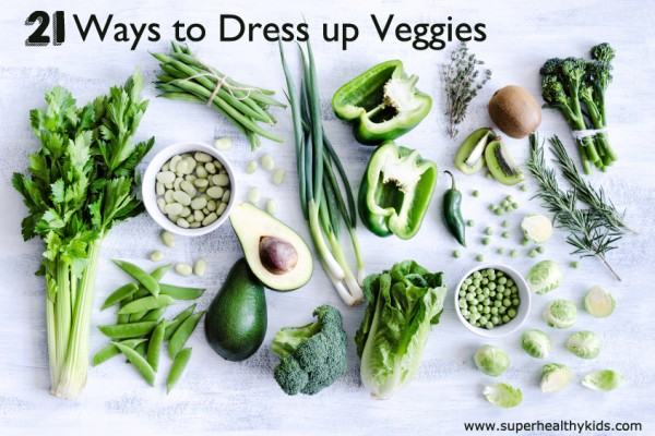 21 Ways to Dress Up Veggies. No boring veggies for your kids today! Try these 21 ways to dress them up!
