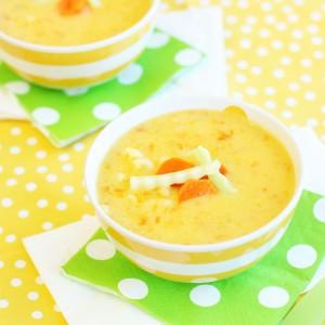 Hidden Veggie Mac and Cheese Soup Recipe