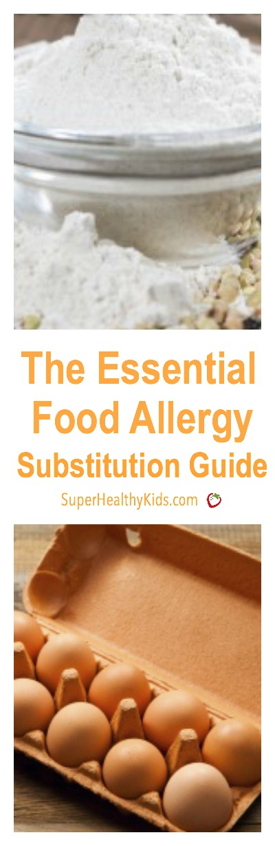 The Essential Food Allergy Substitution Guide. If your kids have food allergies, check out our ultimate substitution guide.