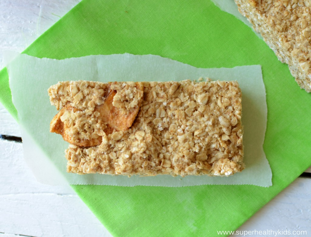 Cinnamon Apple Bars. Delicious as a cookie, but packed with fiber and nutrients!