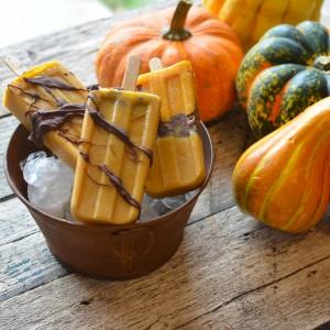 Pumpkin Chocolate Popsicles