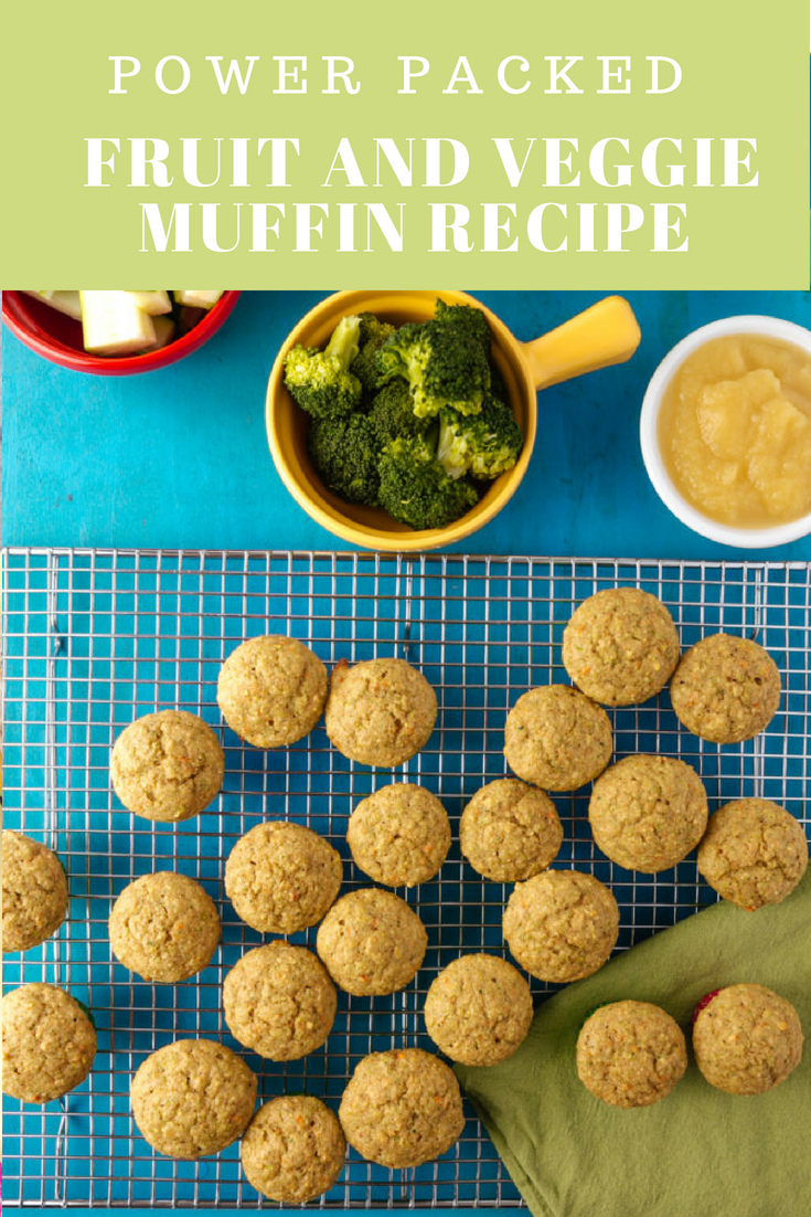 Power Packed Fruit and Veggie Muffin Recipe