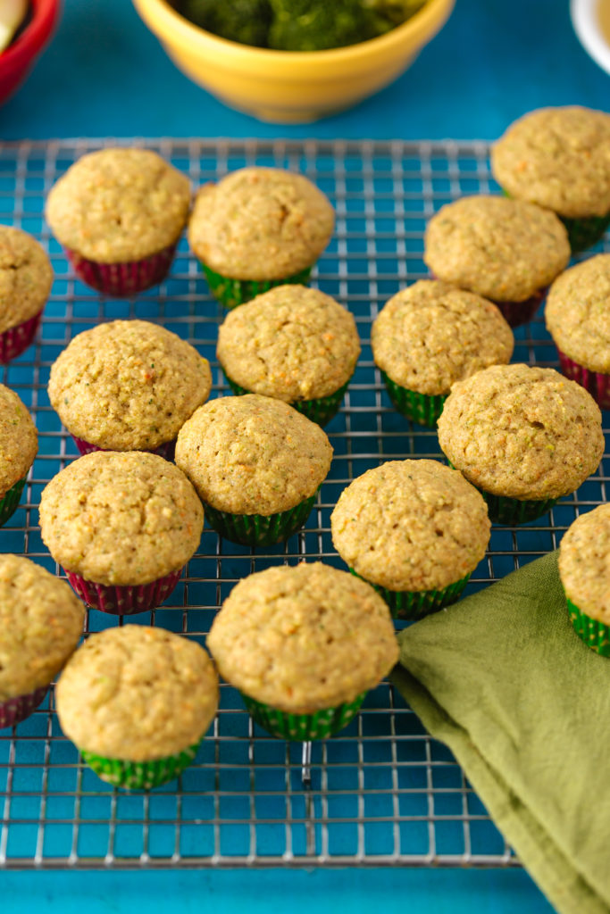 Fruit and Veggie Muffin Recipe. www.superhealthykids.com