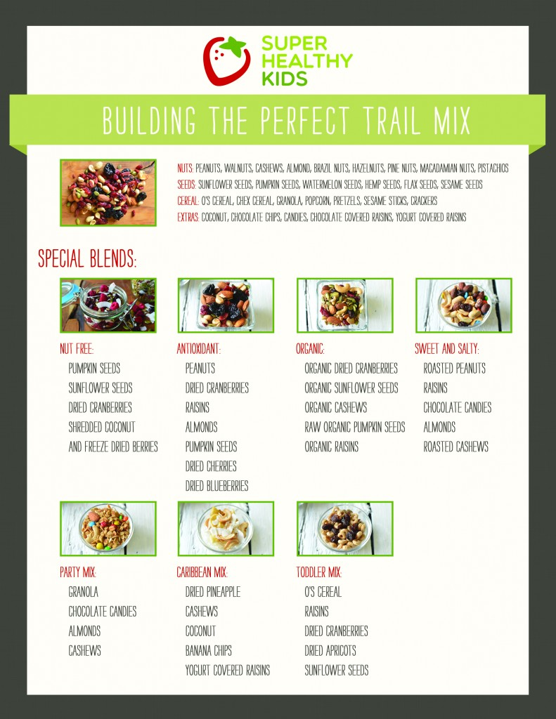 Ultimate Trail Mix Recipe Guide Pick Your Own Blend With Our Printable Chart