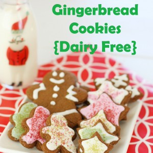 Whole Wheat Gingerbread Cookies {Dairy Free}