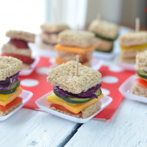 Lunch Box Idea: Mini Rainbow Sandwiches