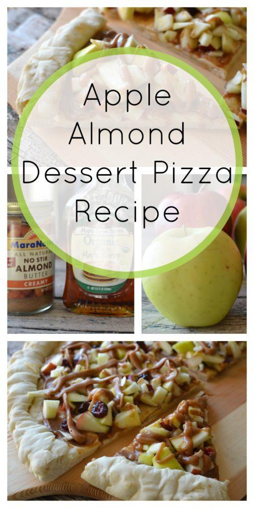 Apple Almond Dessert Pizza Recipe