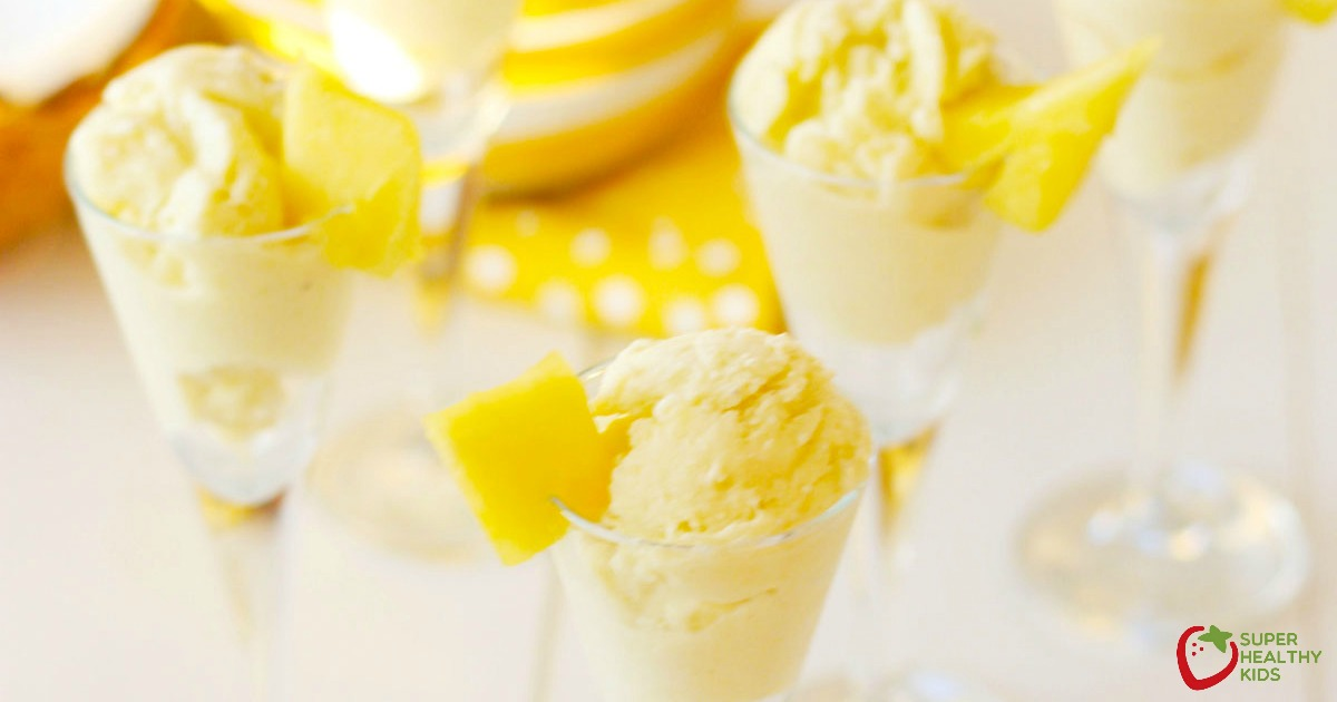 Homemade Pineapple Coconut Ice Cream Dairy Free