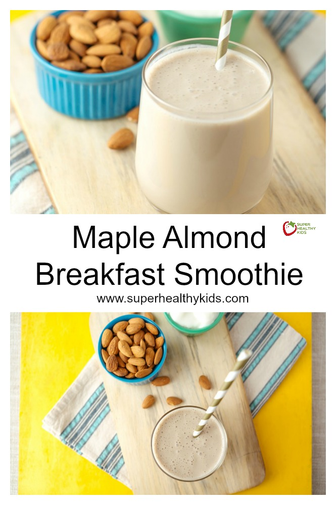 Maple Almond Breakfast Smoothie. Maple + Almond is a match made in smoothie heaven!