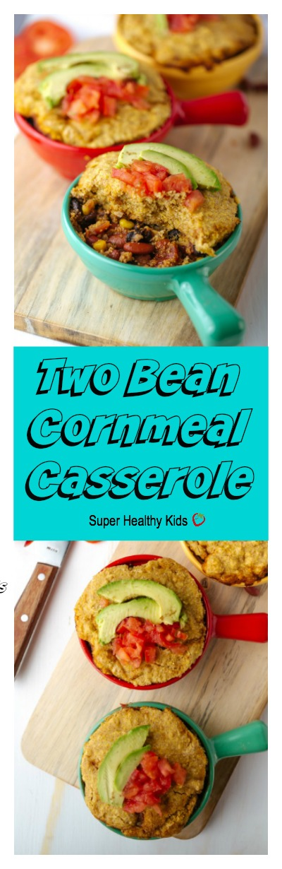 Two bean cornmeal casserole recipe healthy ideas for kids two bean cornmeal casserole no time to shop turn your food storage into forumfinder Choice Image