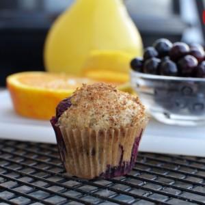 100% Whole Wheat Orange Blueberry Muffins