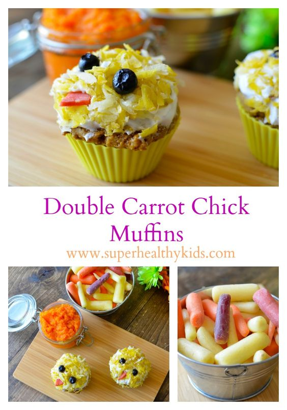 FOOD - Carrot Muffins. Instead of shredded carrots in these carrot muffins, we used our carrots in a completely different way- Check it out! http://www.superhealthykids.com/carrot-muffins/