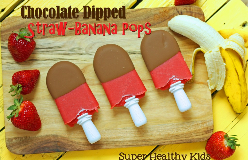 Top 10 Ice Pop Molds for Fruit and Veggie Pops. Delicious Chocolate Dipped Straw-Banana Pops!