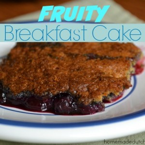 Fruity Breakfast Cake {Gluten Free, Dairy Free, Nut Free}