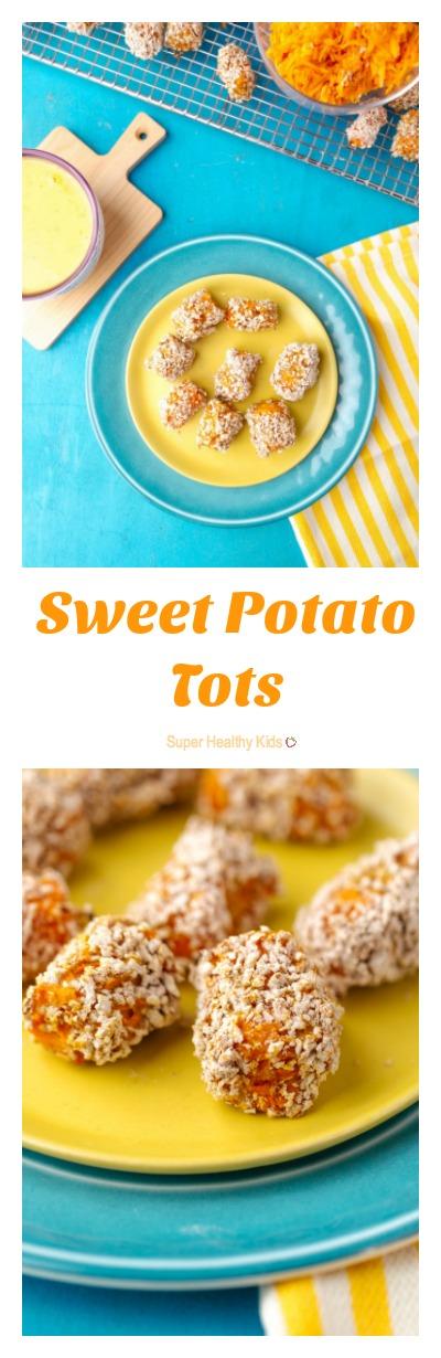 Sweet Potato Tots. More vitamins than tater tots! http://www.superhealthykids.com/sweet-potato-tots/