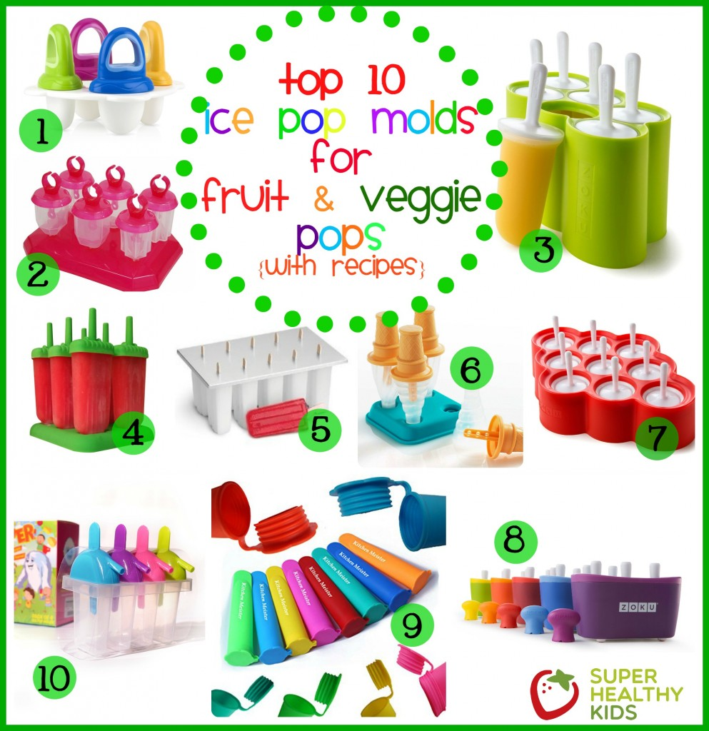 Top 10 Ice Pop Molds for Fruit and Veggie Pops. Here's the 411 on which pop molds we like the best.