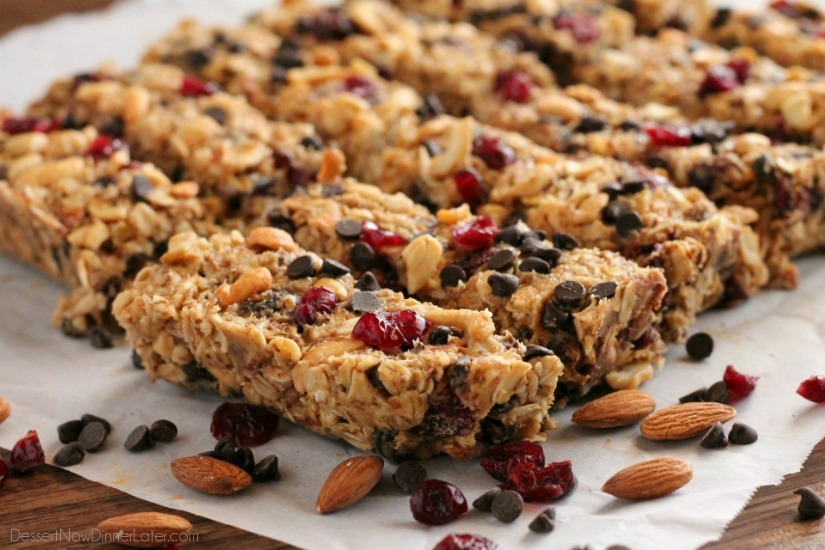 Peanut butter chocolate trail mix granola bar recipe healthy ideas these peanut butter chocolate trail mix granola bars are made with wholesome ingredients to create homemade ccuart Gallery
