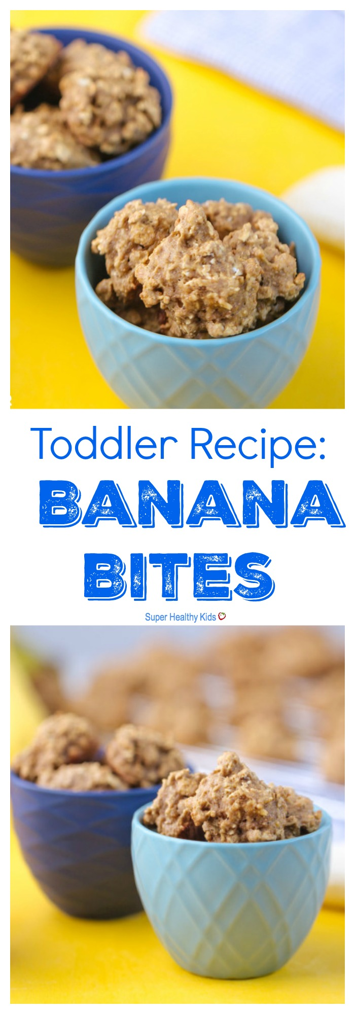 FOOD - Toddler Recipe: Banana Bites. Healthy finger food, for toddlers! http://www.superhealthykids.com/banana-cookies/