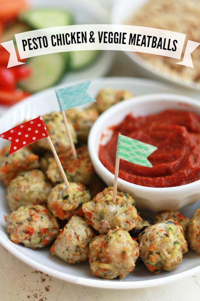 Pesto chicken veggie meatballs recipe healthy ideas for kids pesto chicken veggie meatballs recipe forumfinder Images