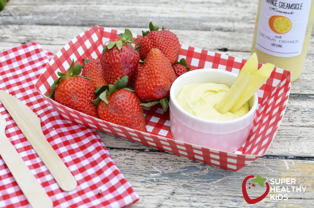 Orange Creamsicle Homemade Dressing & Dip. The ultimate creamy dip for all your fruits AND vegetables!