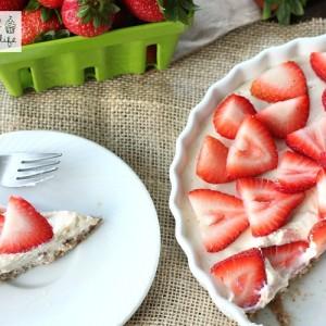 Healthy No-Bake Strawberry Tart Recipe